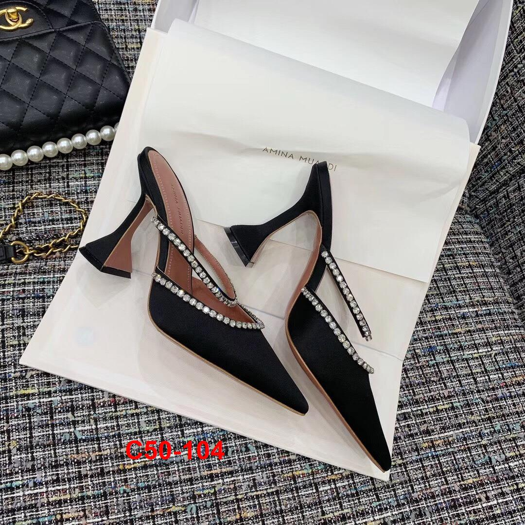 C50-104 Amina Muaddi sandal cao 10cm siêu cấp