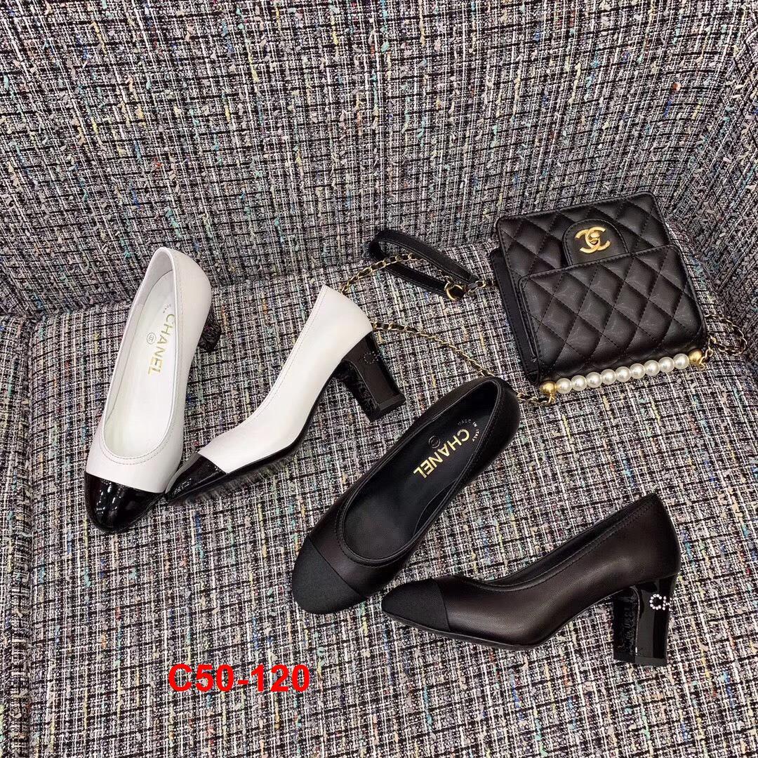 C50-120 Chanel giày cao 7cm siêu cấp