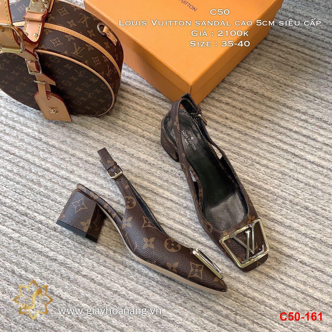 C50-161 Louis Vuitton sandal cao 5cm siêu cấp