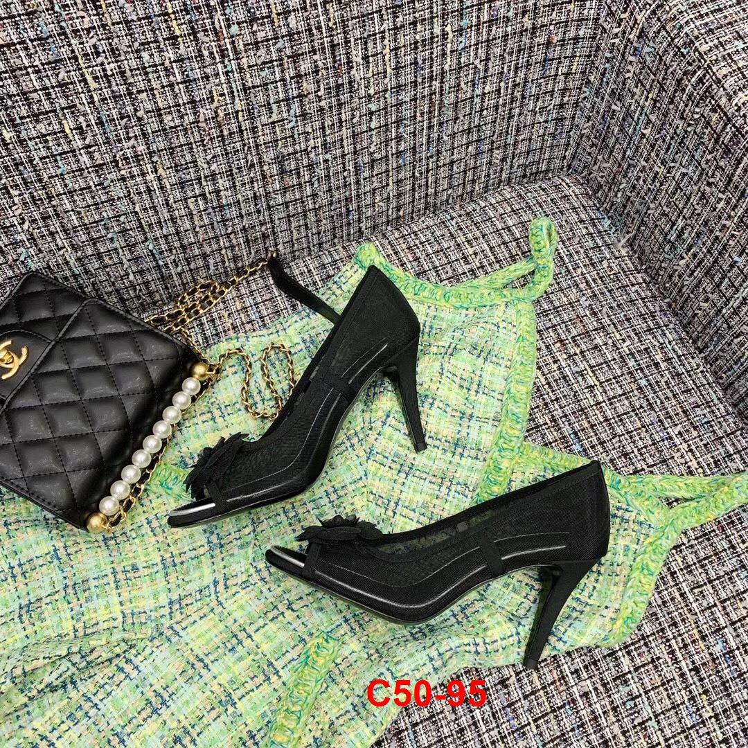 C50-95 Chanel giày cao 9cm siêu cấp