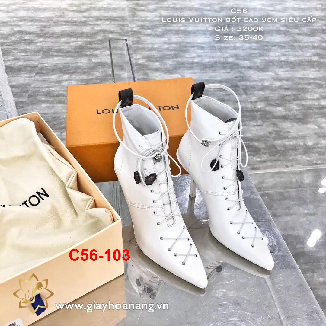 C56-103 Louis Vuitton bốt cao 9cm siêu cấp