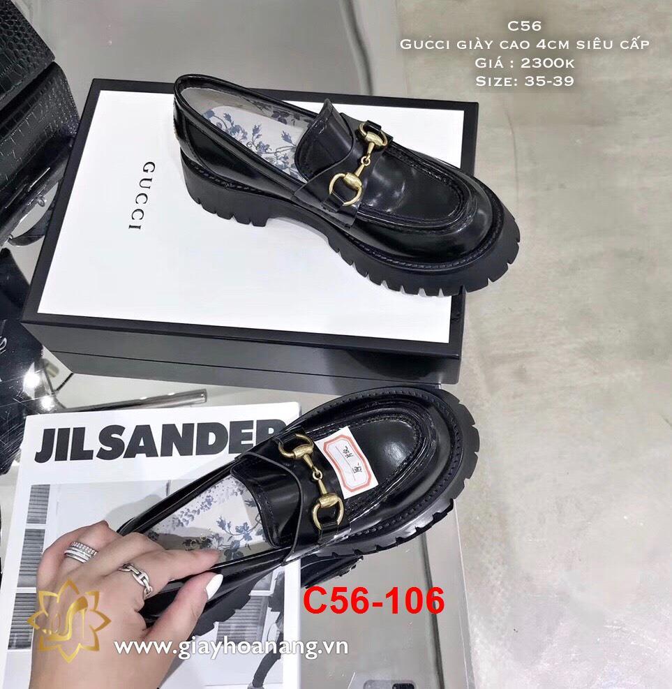 C56-106 Gucci giày cao 4cm siêu cấp