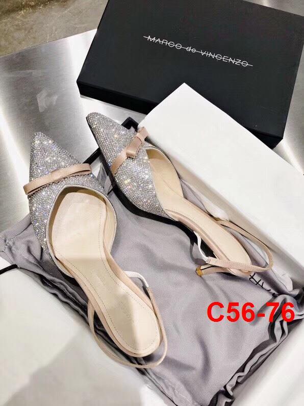 C56-76 Marco de Vincenzo sandal cao 5cm siêu cấp