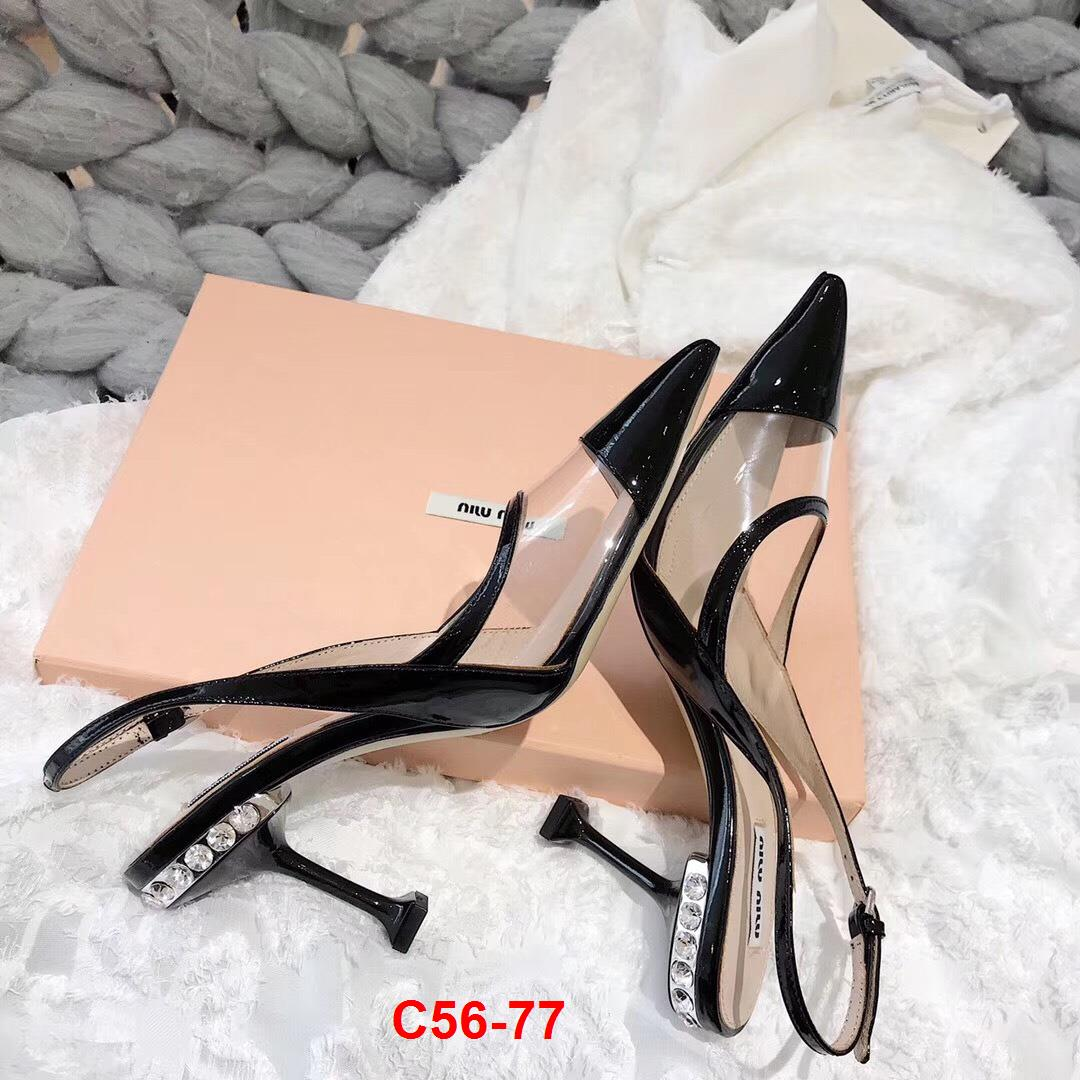 C56-77 Miu Miu sandal cao 9cm siêu cấp