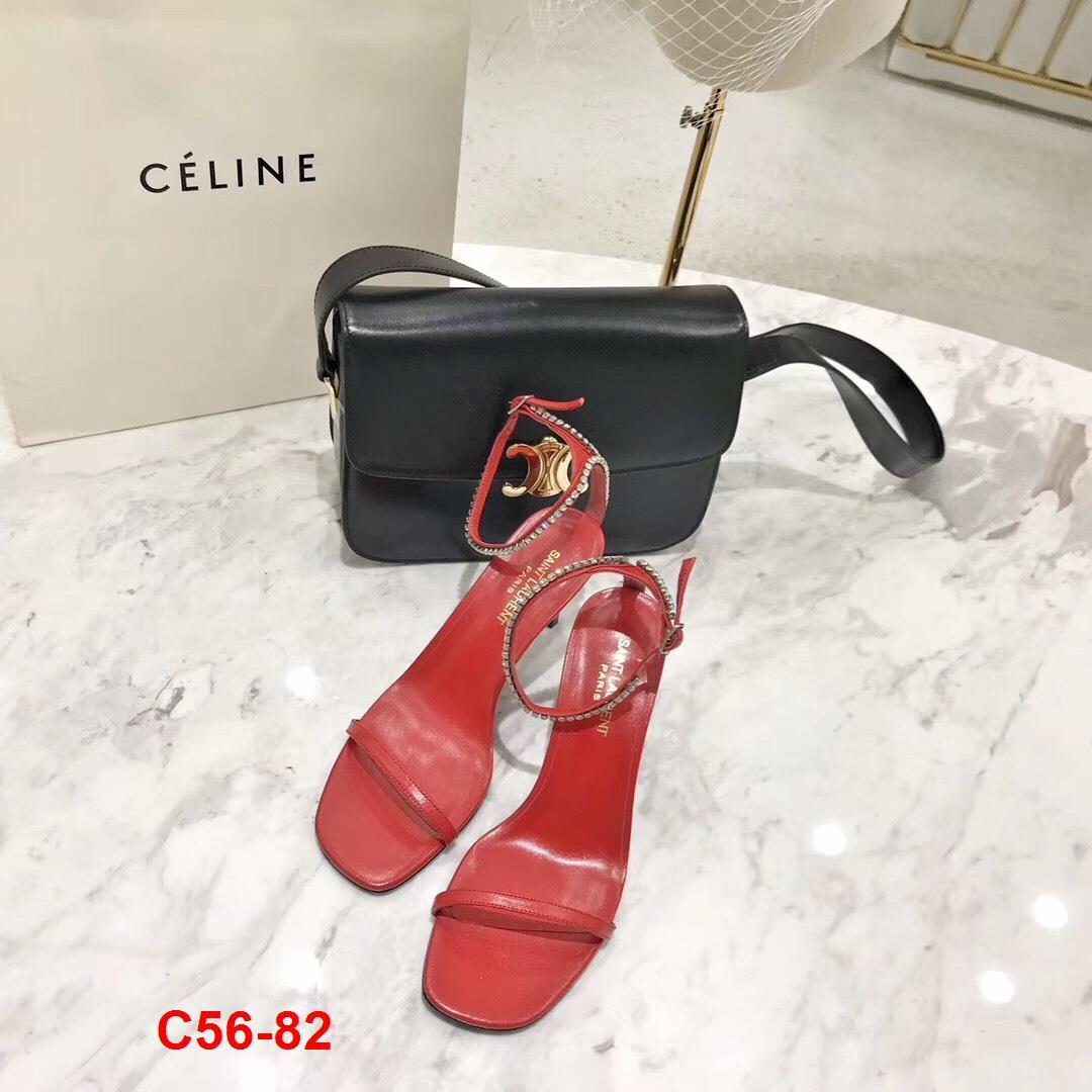C56-82 Saint Laurent sandal 8cm siêu cấp