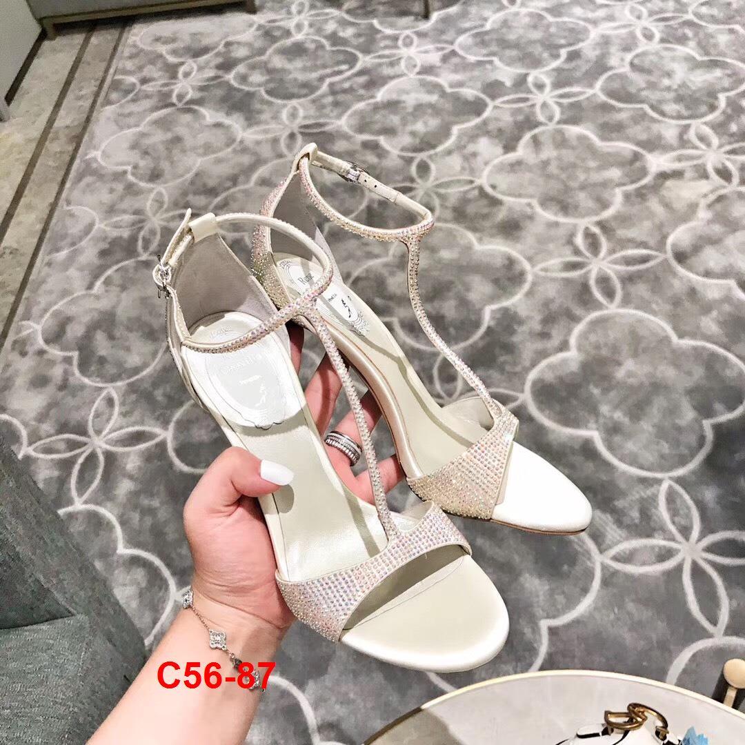 C56-87 Rene Caovilla sandal cao 9cm siêu cấp