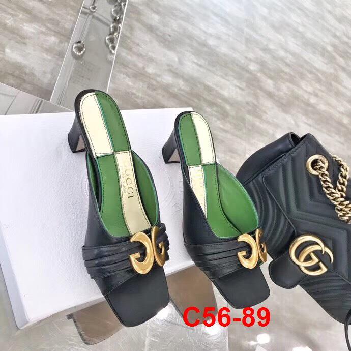 C56-89 Gucci dép cao 6cm siêu cấp