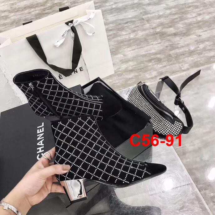 C56-91 Chanel bốt cao 5cm siêu cấp