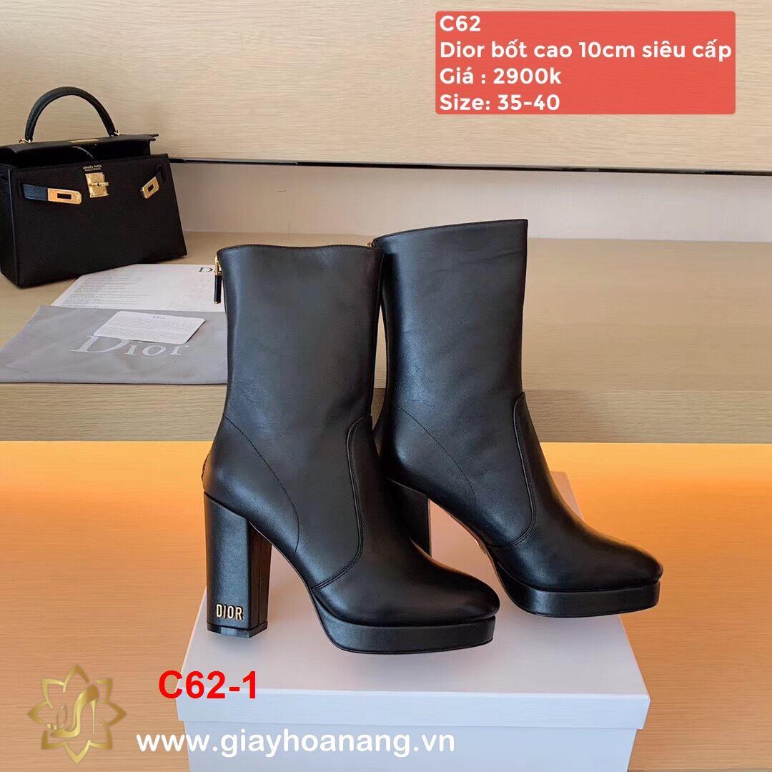 C62-1 Dior bốt cao 10cm siêu cấp
