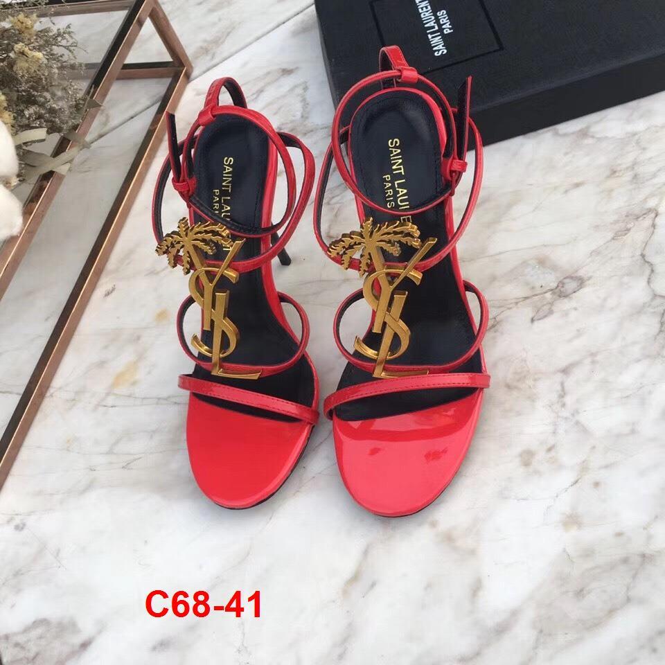 C68-41 Yves Saint Laurent YSL sandal cao 10cm siêu cấp