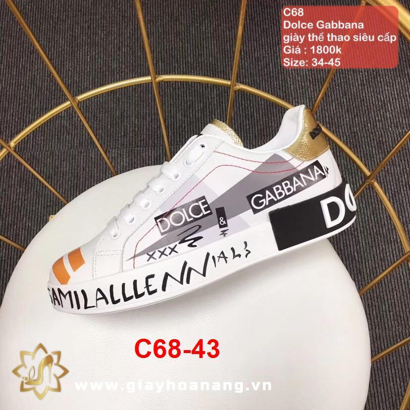 C68-43 Dolce Gabbana giày thể thao siêu cấp