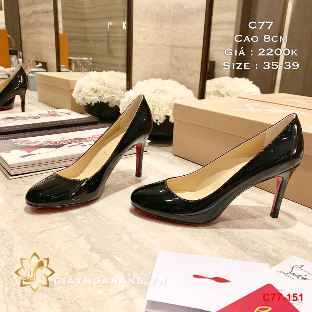 C77-151 Louboutin giày cao 8cm siêu cấp