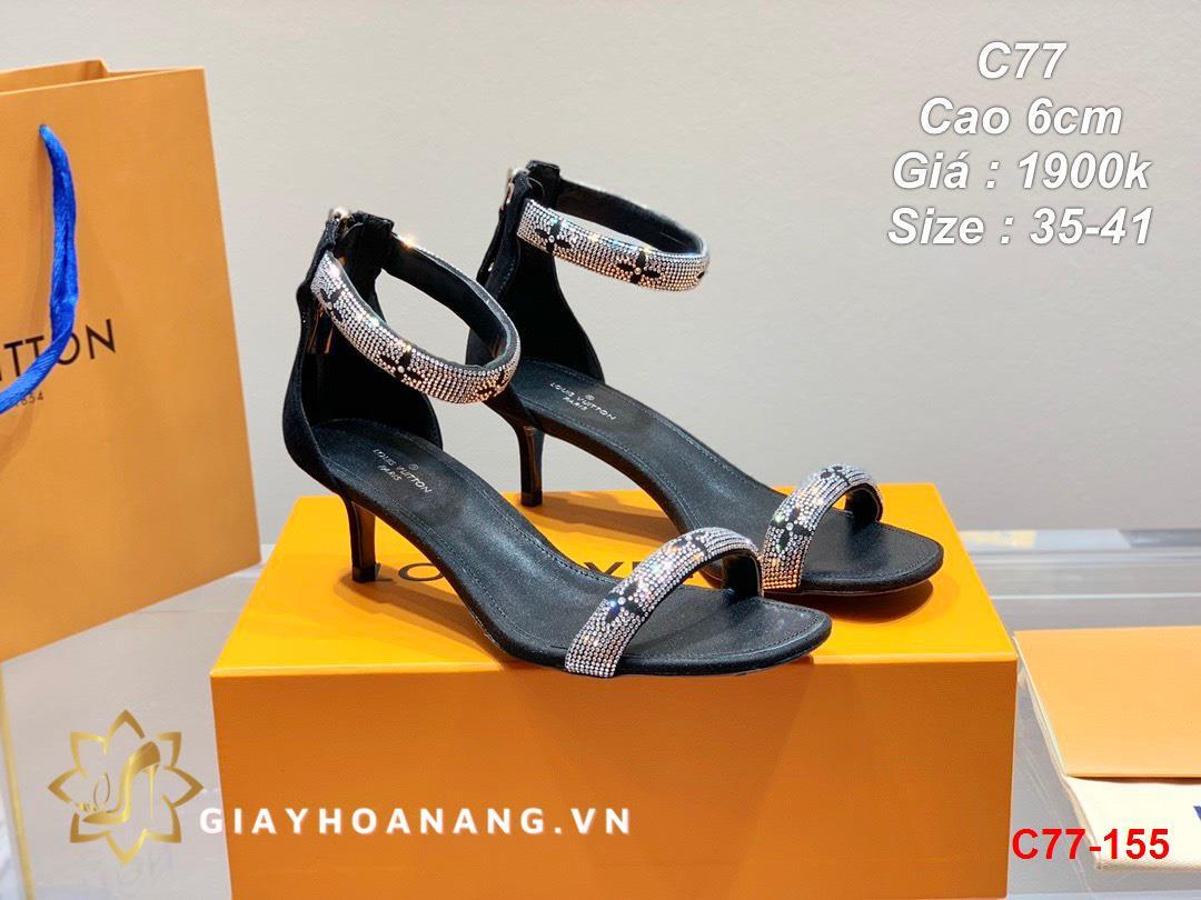 C77-155 Louis Vuitton sandal cao 6cm siêu cấp