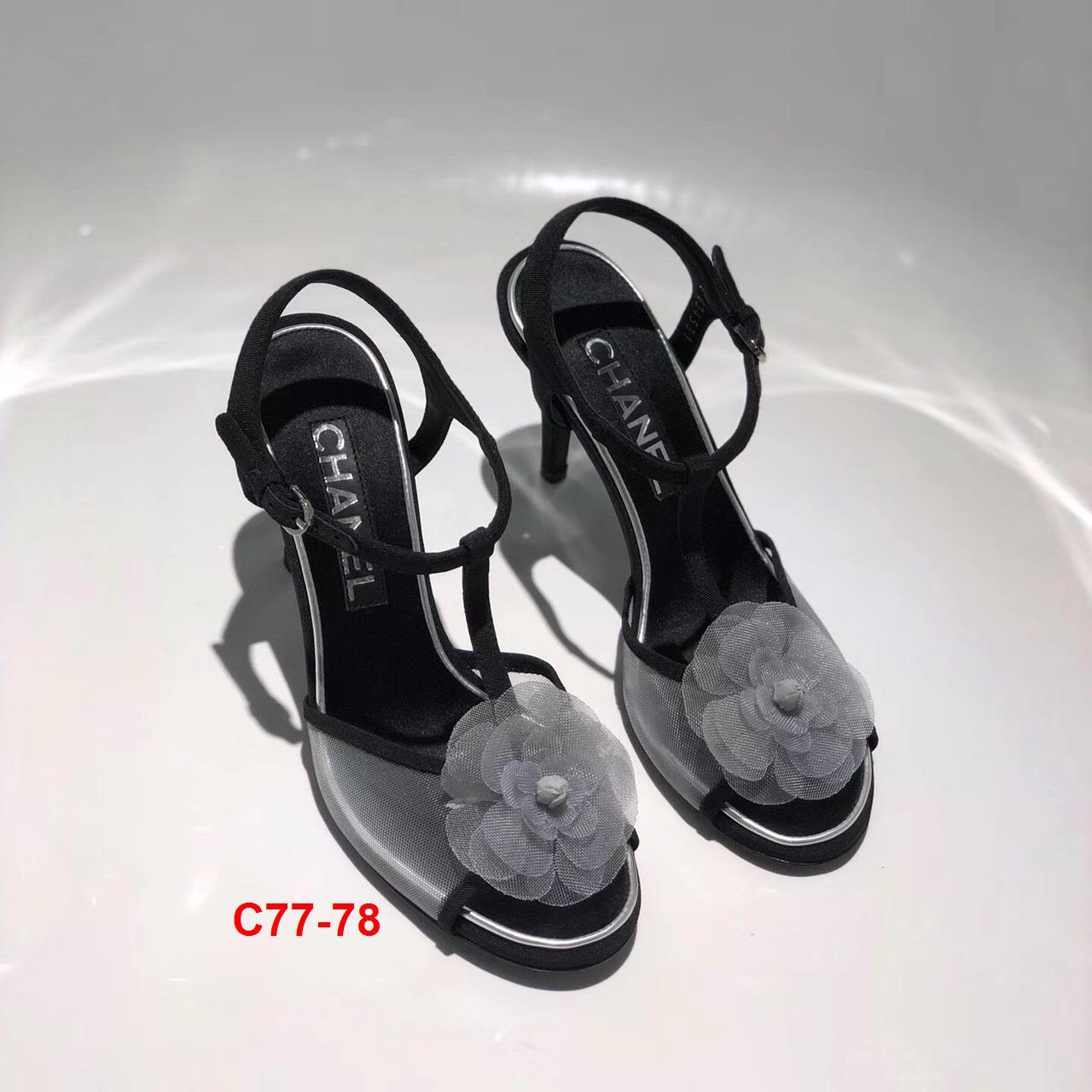 C77-78 Chanel sandal cao 8cm siêu cấp