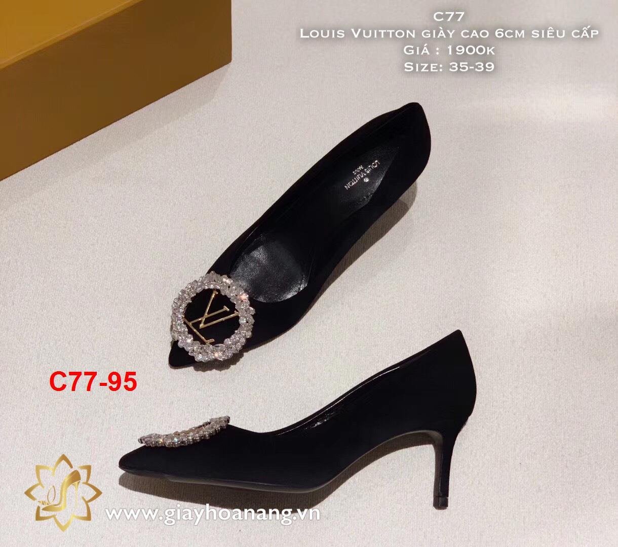 C77-95 Louis Vuitton giày cao 6cm siêu cấp