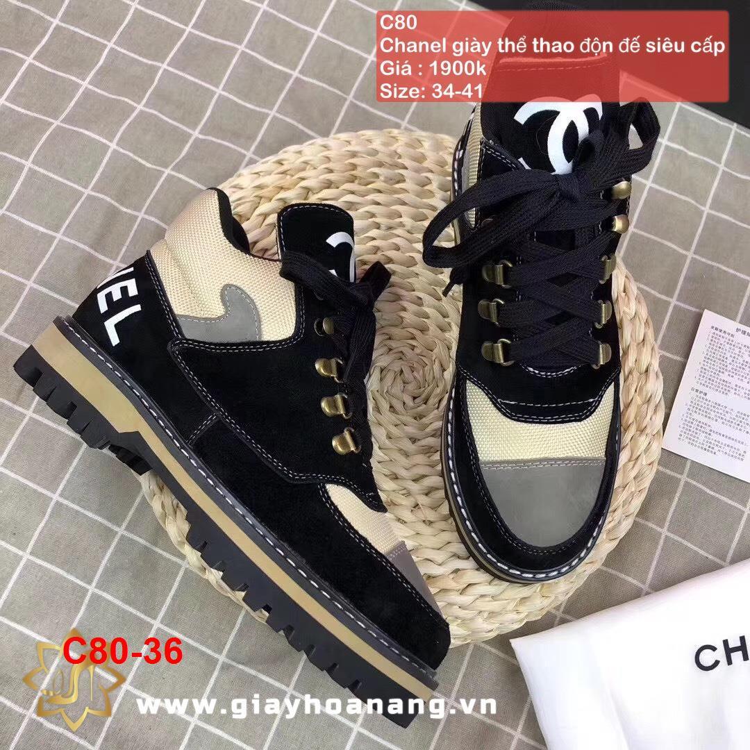 C80-36 Chanel giày thể thao độn đế siêu cấp