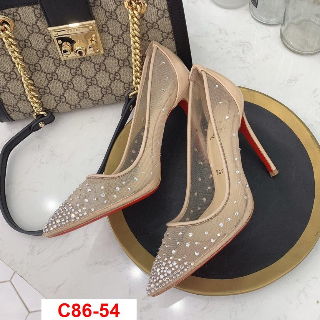 C86-54 Louboutin giày cao 10cm siêu cấp
