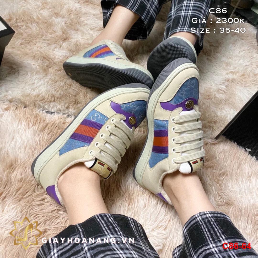 C86-64 Gucci giày thể thao siêu cấp
