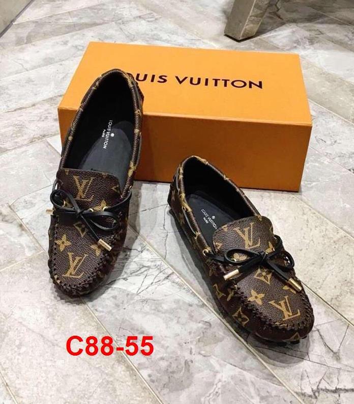 C88-55 Louis Vuitton giày lười siêu cấp