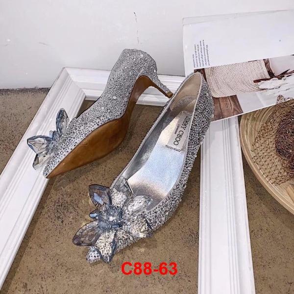 C88-63 Jimmy Choo giày cao 6cm siêu cấp