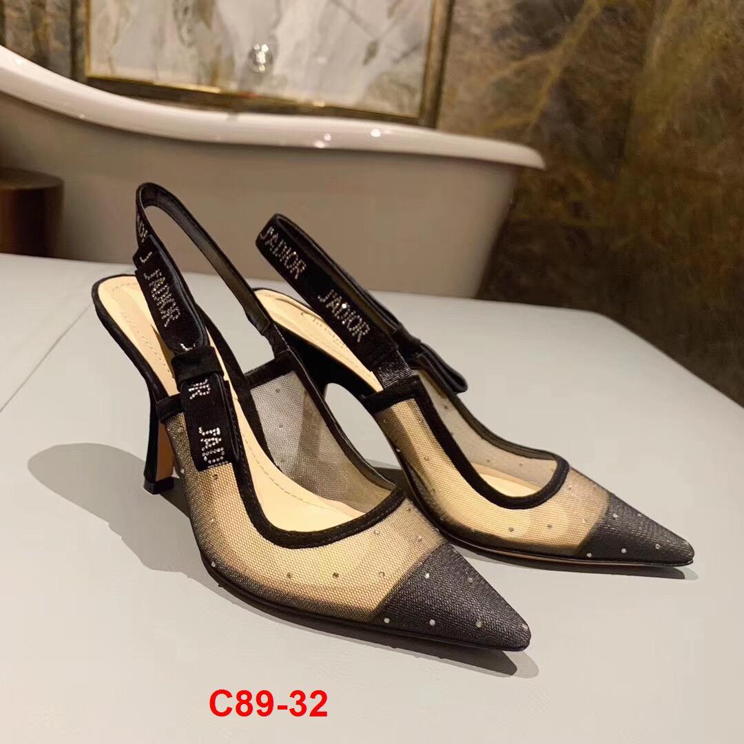 C89-32 Dior sandal cao 6cm, 10cm, bệt siêu cấp