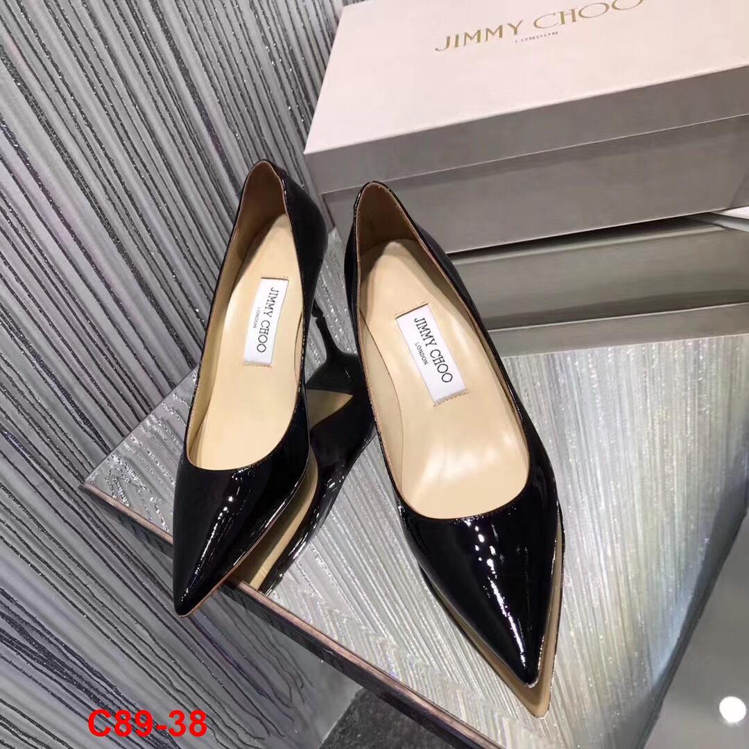 C89-38 Jimmy Choo giày cao 6cm, 9cm siêu cấp