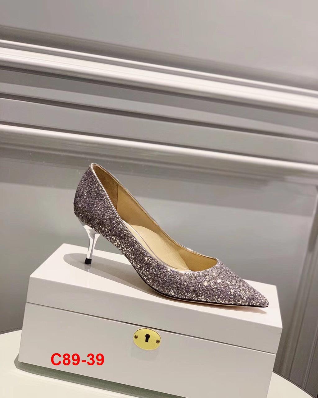 C89-39 Jimmy Choo giày cao 6cm, 9cm siêu cấp