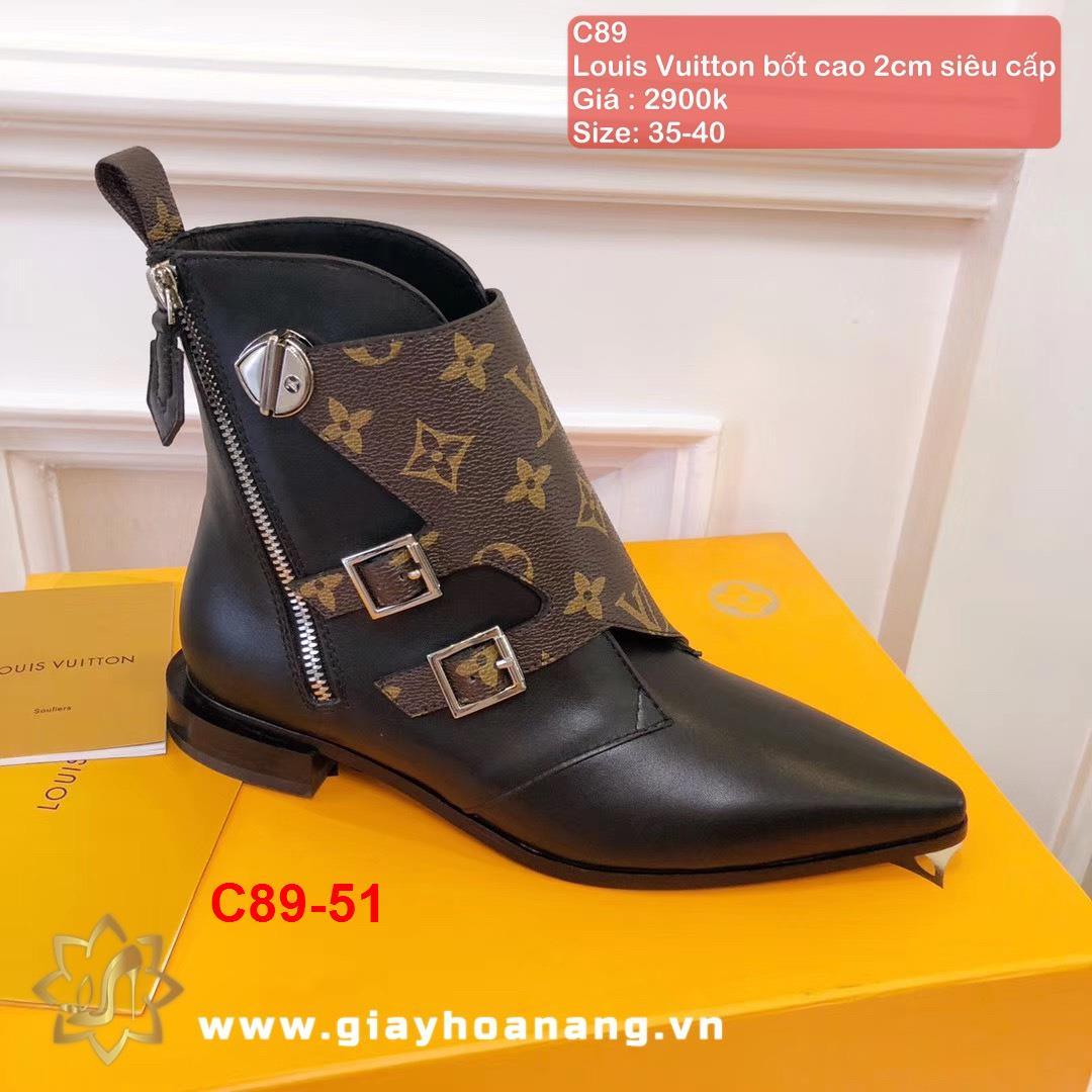 C89-51 Louis Vuitton bốt cao 2cm siêu cấp