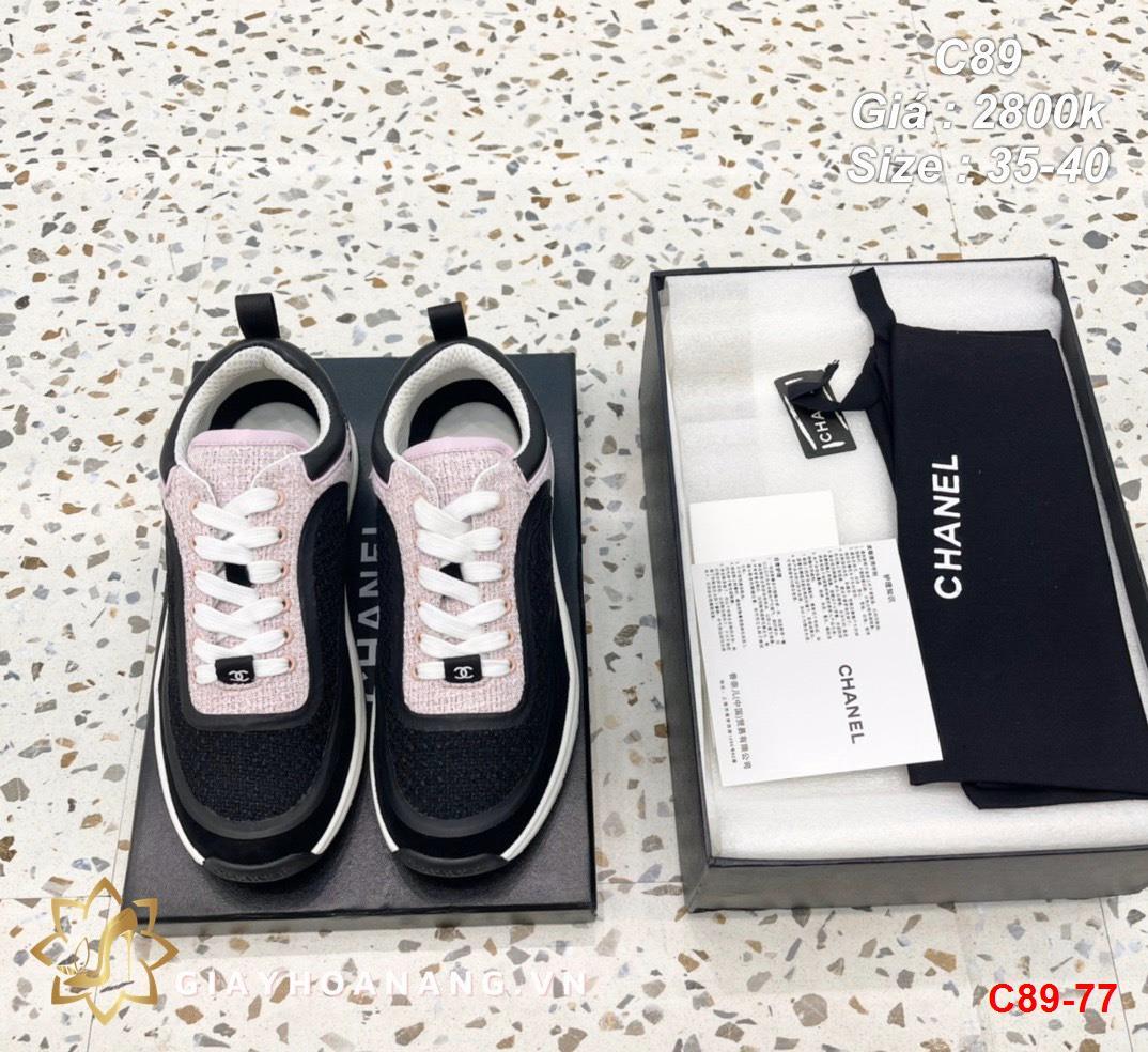 C89-77 Chanel giày thể thao siêu cấp