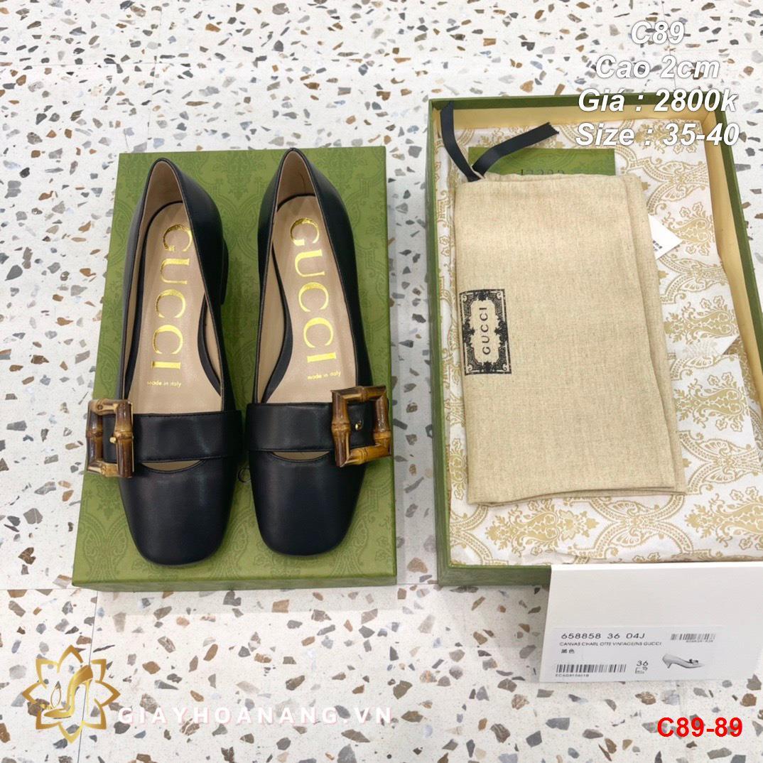 C89-89 Gucci giày cao 2cm siêu cấp