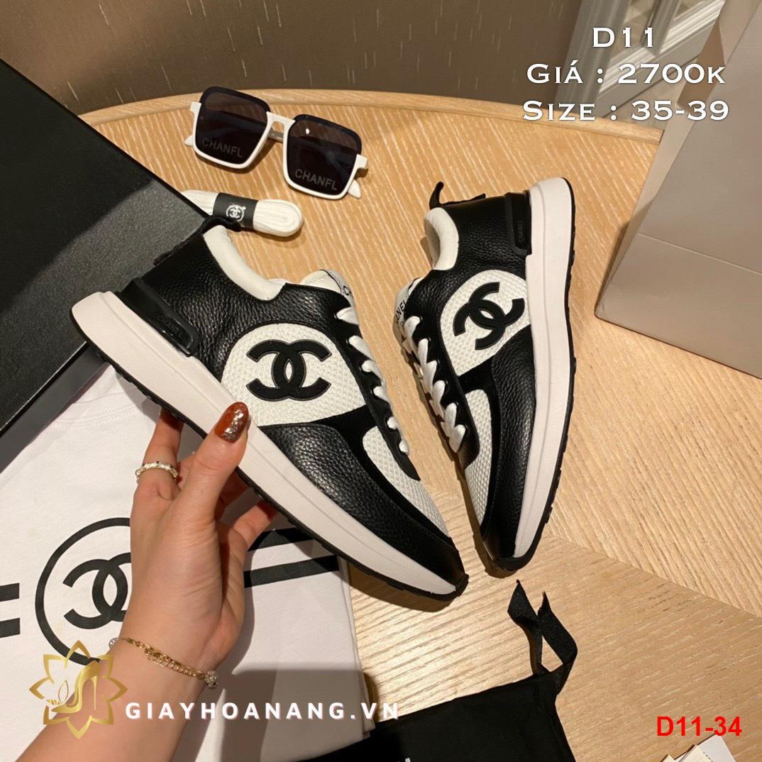 D11-34 Chanel giày thể thao siêu cấp