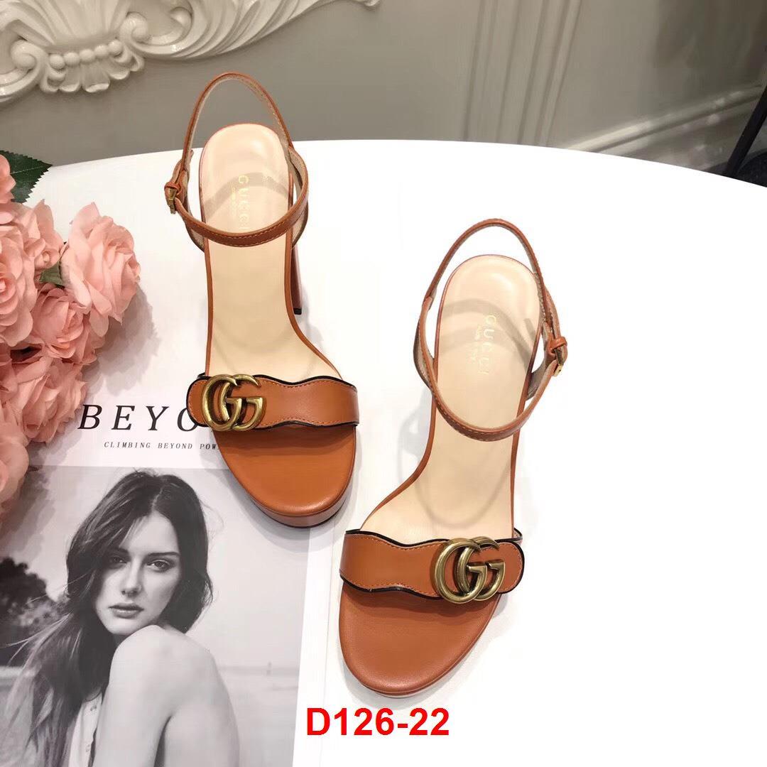 D126-22 Gucci sandal cao 11cm đế kếp 3cm siêu cấp