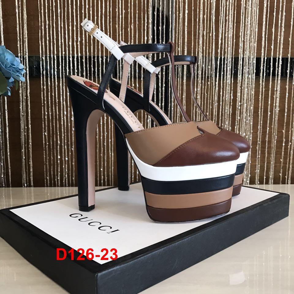 D126-23 Gucci sandal cao 15cm siêu cấp