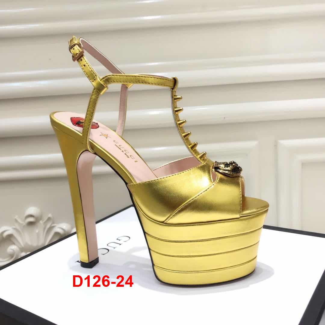 D126-24 Gucci sandal cao 15cm siêu cấp