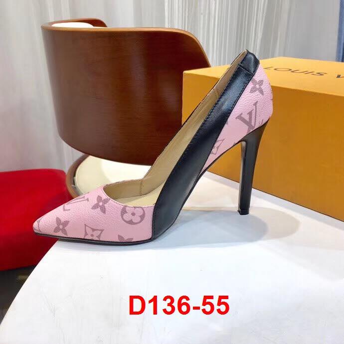 D136-55 Louis Vuitton giày cao 10cm siêu cấp