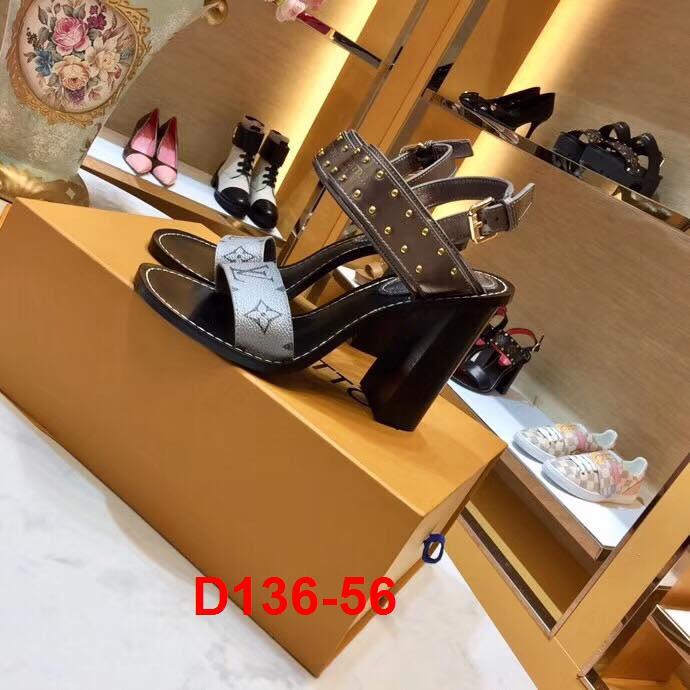 D136-56 Louis Vuitton sandal cao 10cm siêu cấp