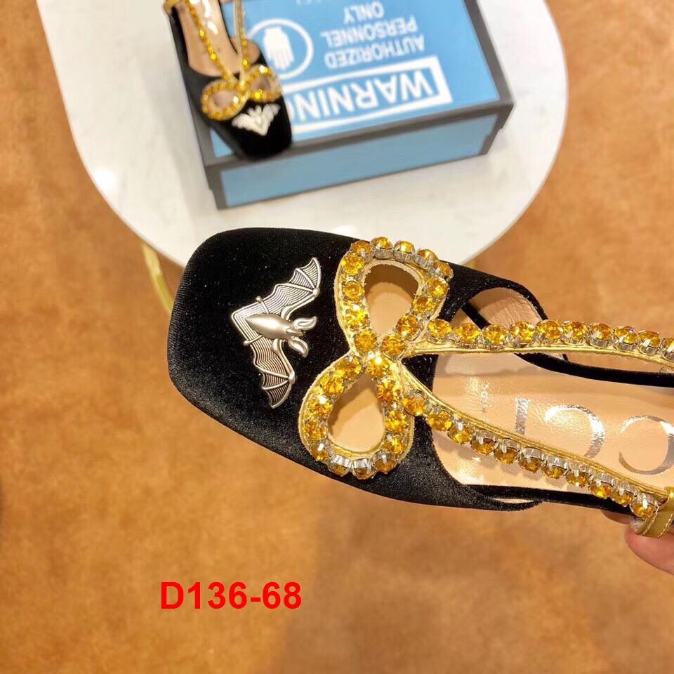D136-68 Gucci sandal cao 7cm siêu cấp