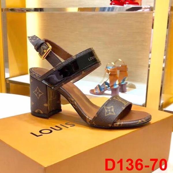 D136-70 Louis Vuitton sandal cao 8cm siêu cấp