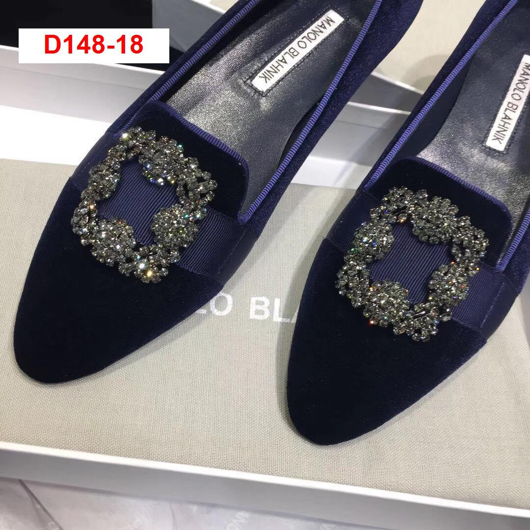 D148-18 Manolo Blahnik giày lười siêu cấp