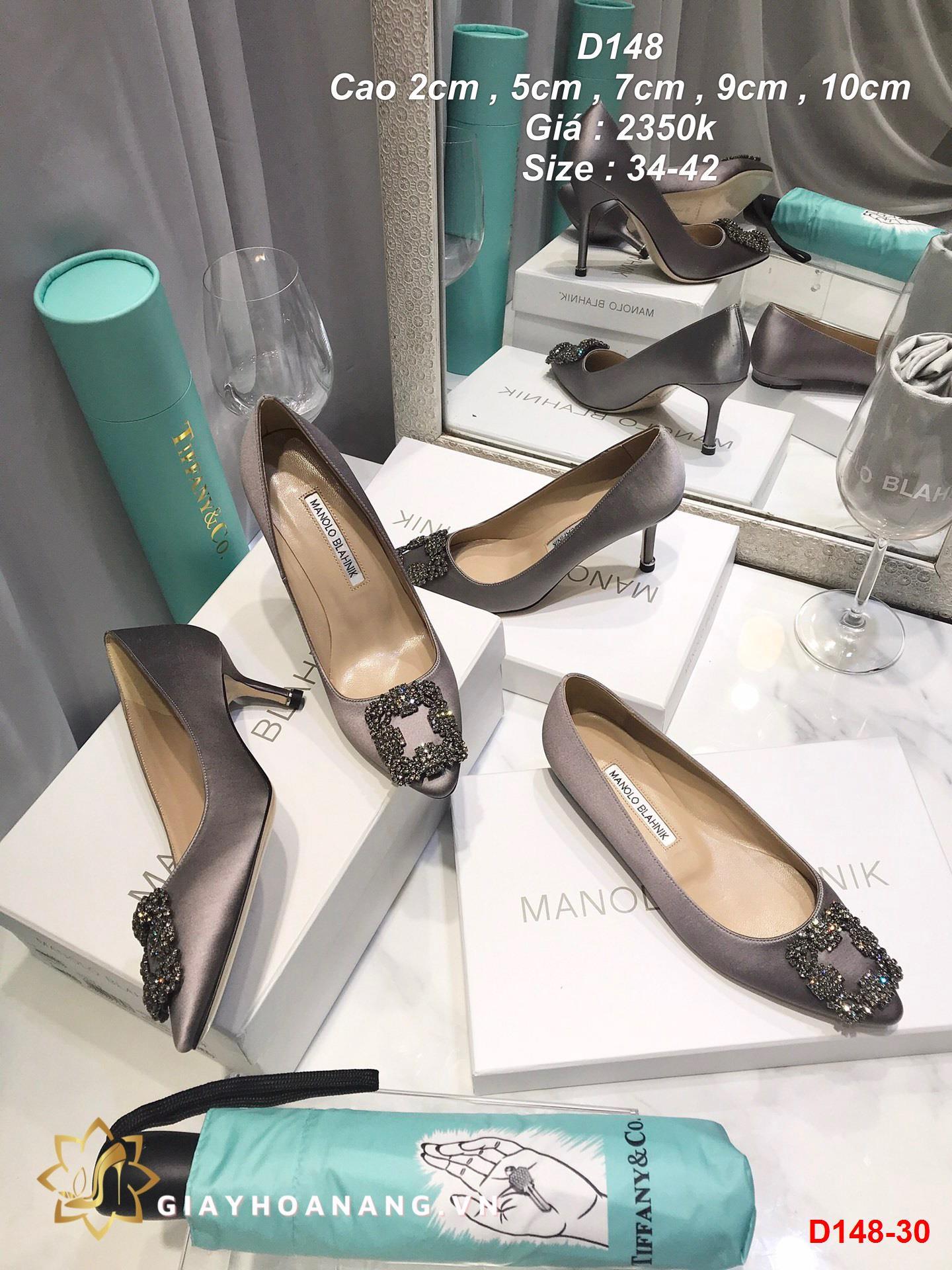 D148-30 Manolo blahnik giày cao 2cm siêu cấp