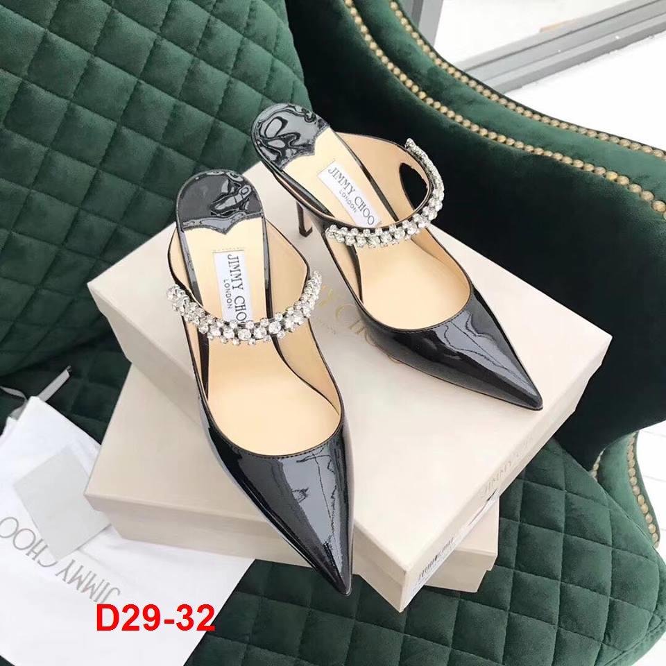 D29-32 Jimmy Choo dép sandal cao 9cm siêu cấp