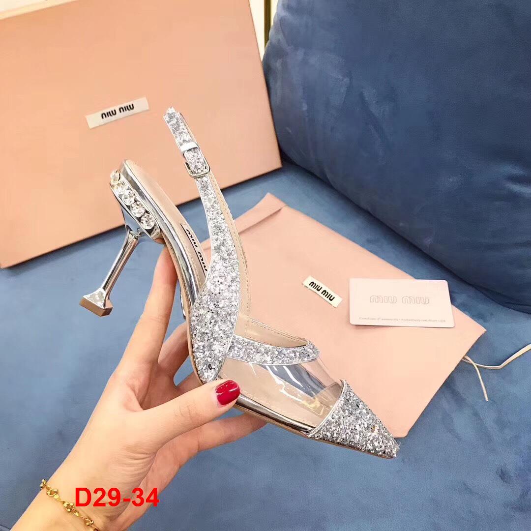 D29-34 Miu Miu sandal cao 9cm siêu cấp