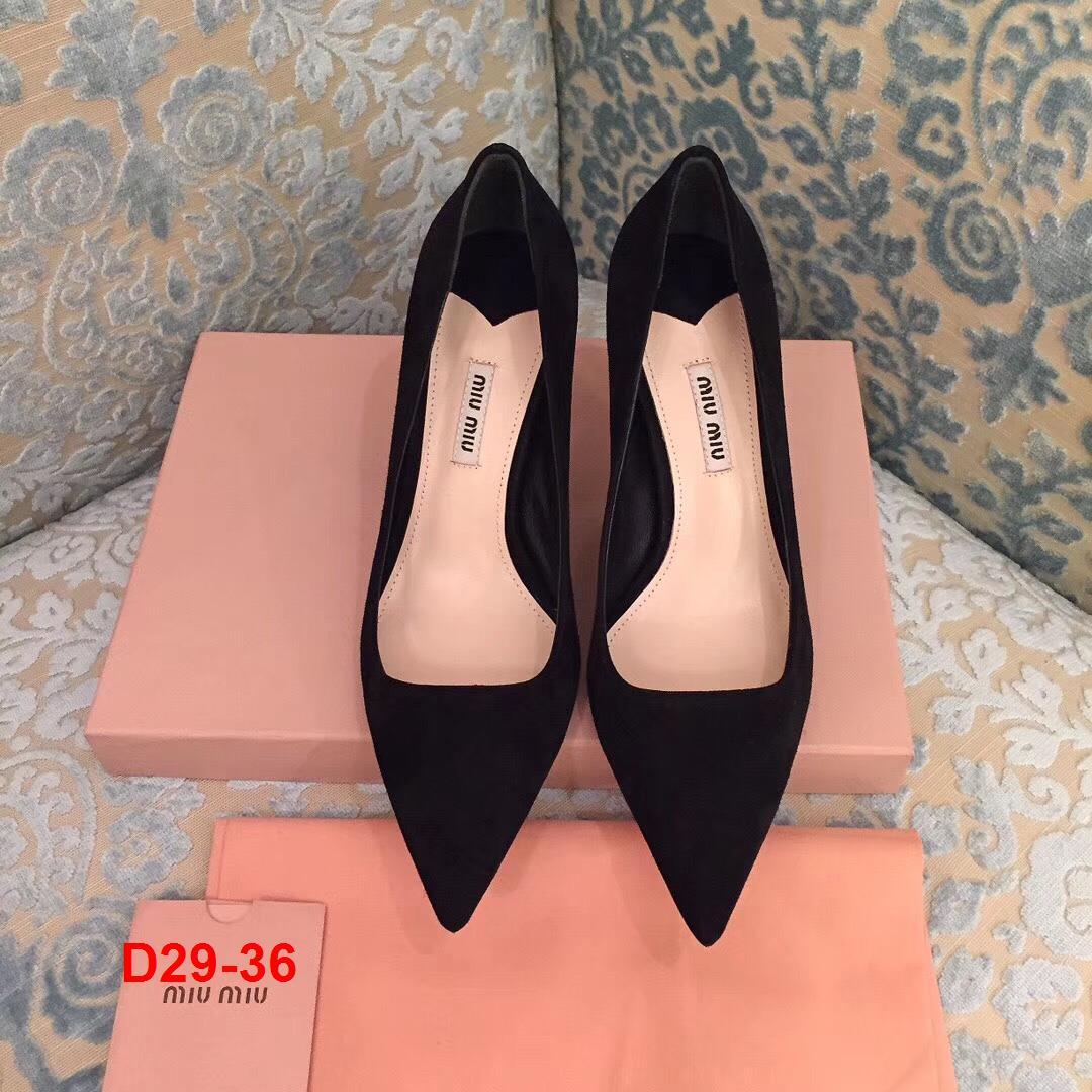D29-36 Miu Miu giày cao 8cm siêu cấp