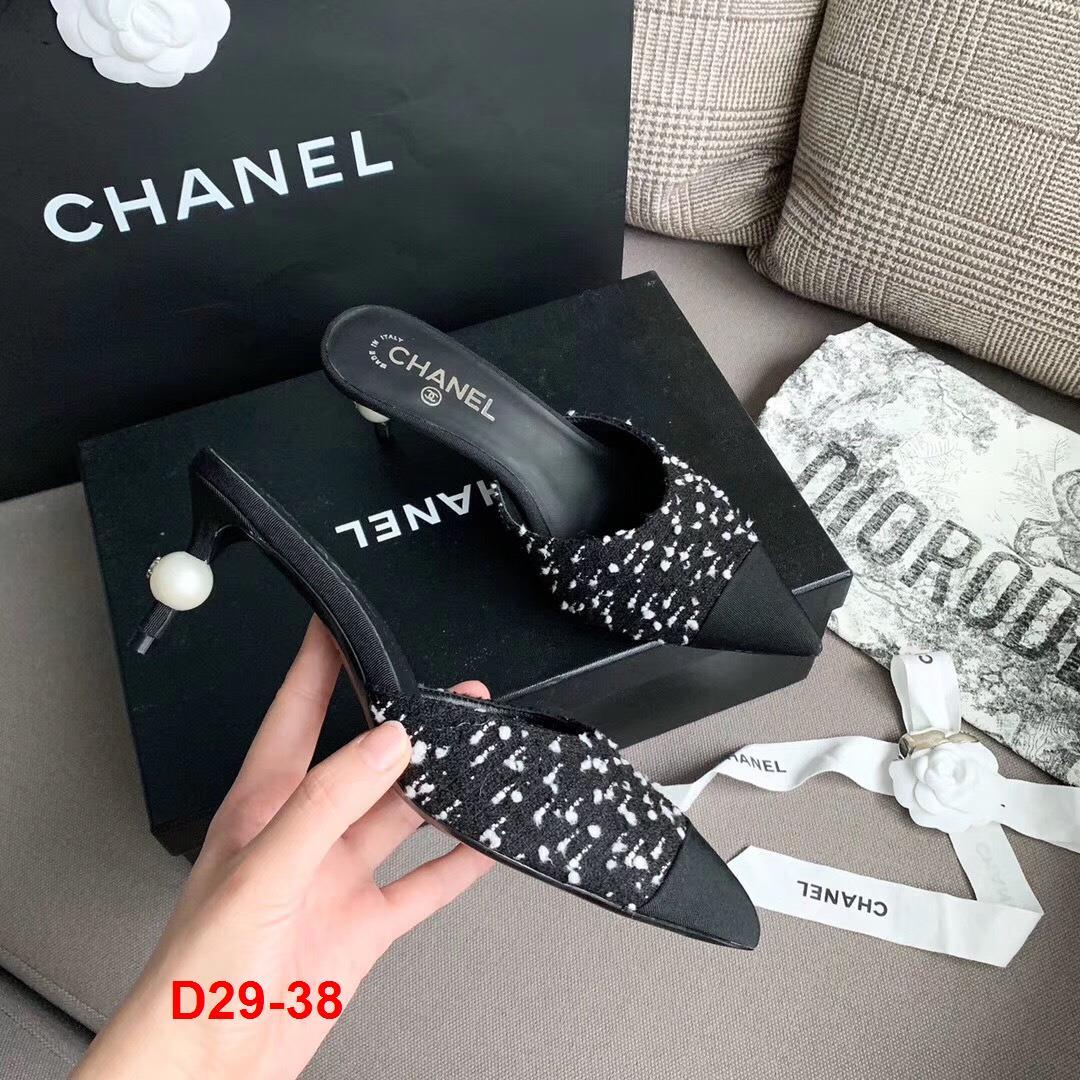 D29-38 Chanel dép cao 7cm siêu cấp