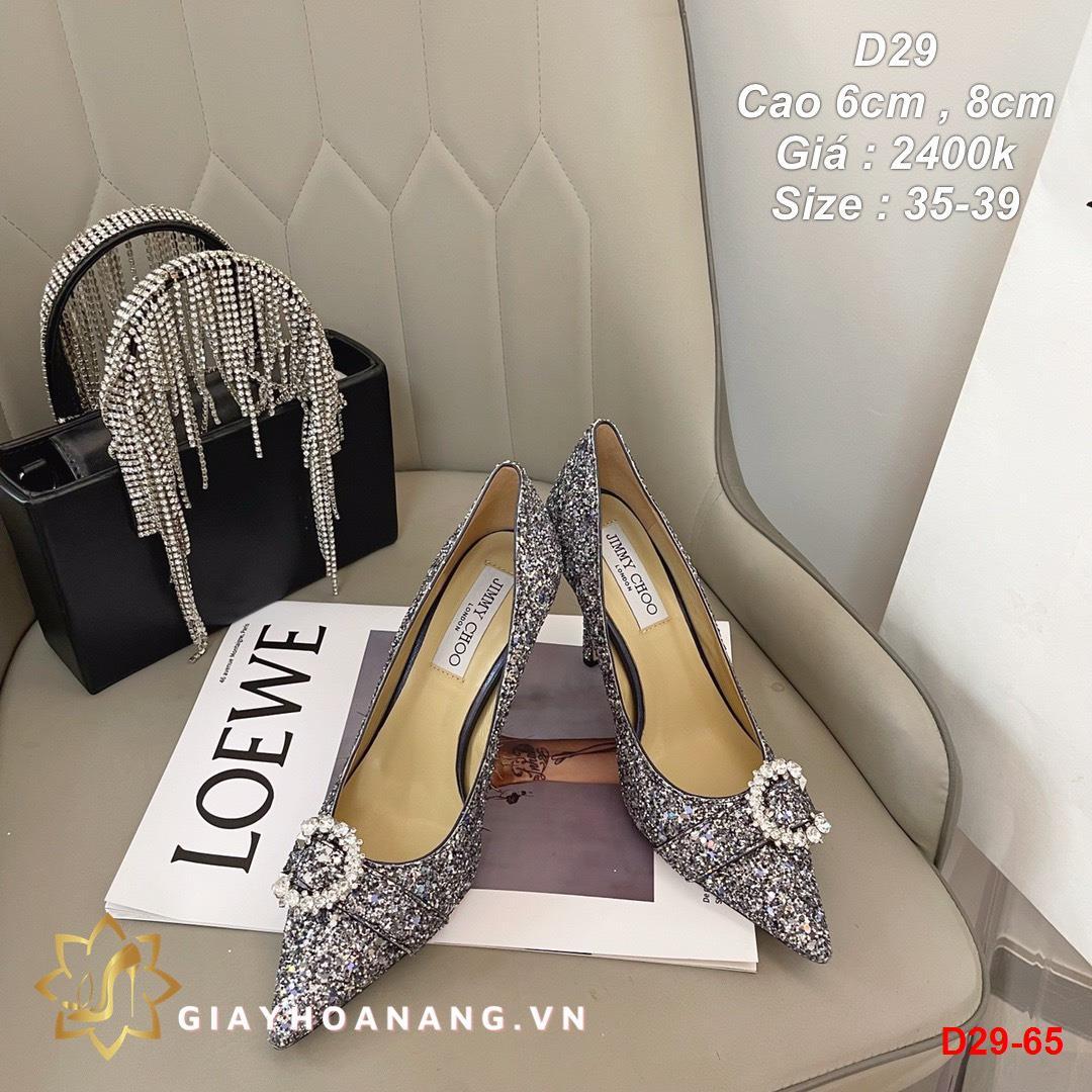D29-65 Jimmy Choo giày cao 6cm , 8cm siêu cấp