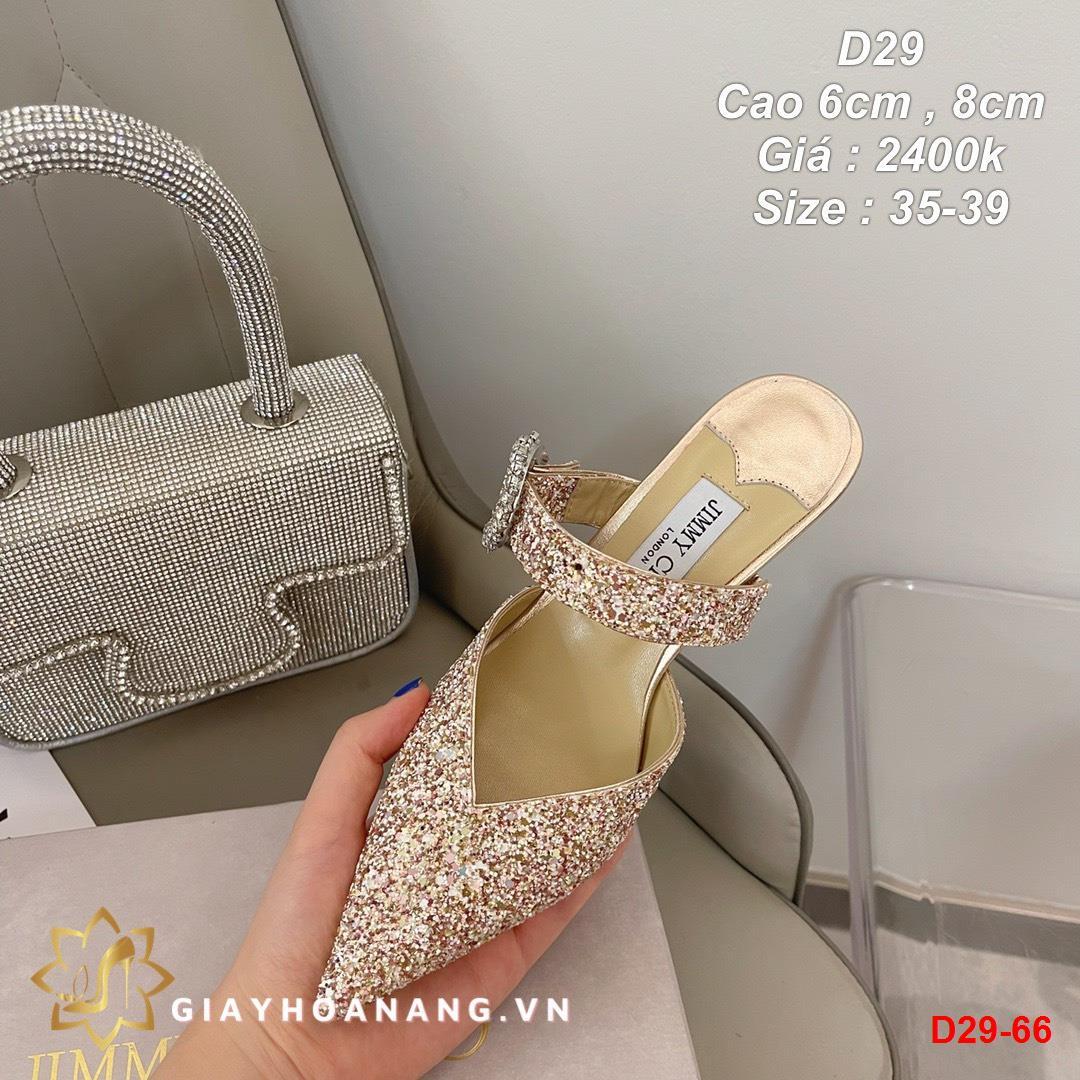 D29-66 Jimmy Choo sandal cao 6cm , 8cm siêu cấp