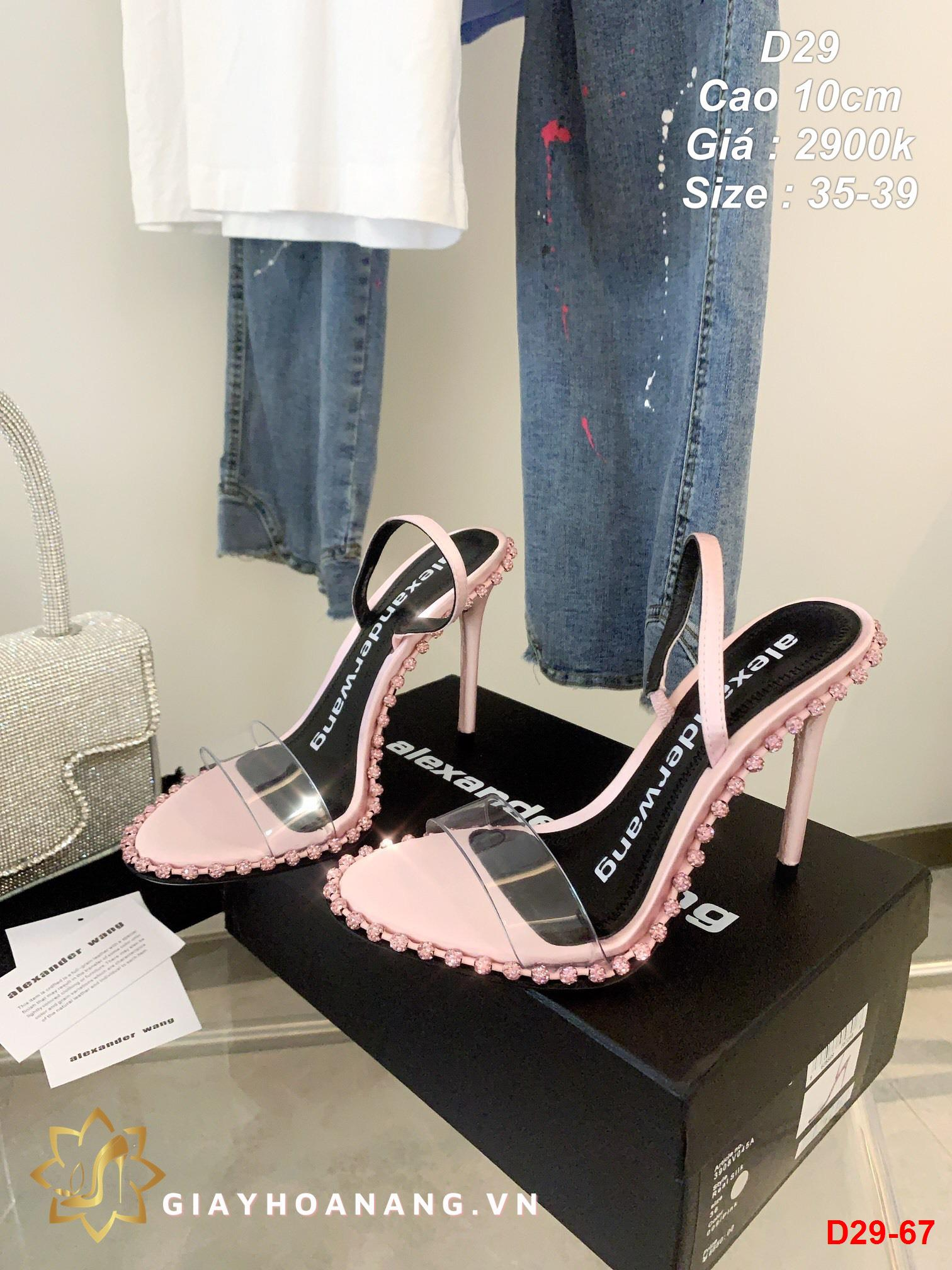 D29-67 Alexander Wang sandal cao 10cm siêu cấp