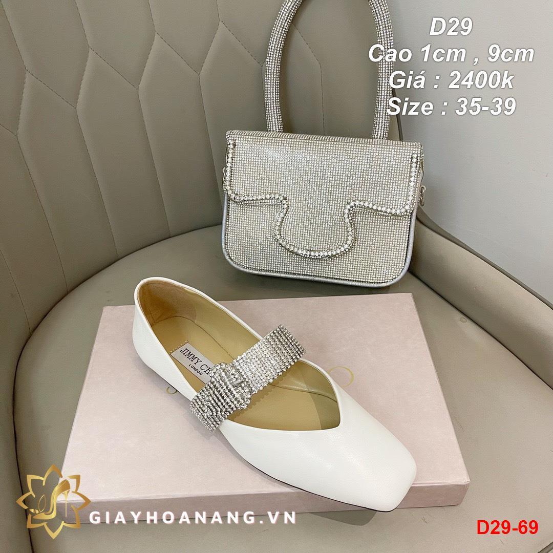 D29-69 Jimmy Choo giày cao 1cm , 9cm siêu cấp