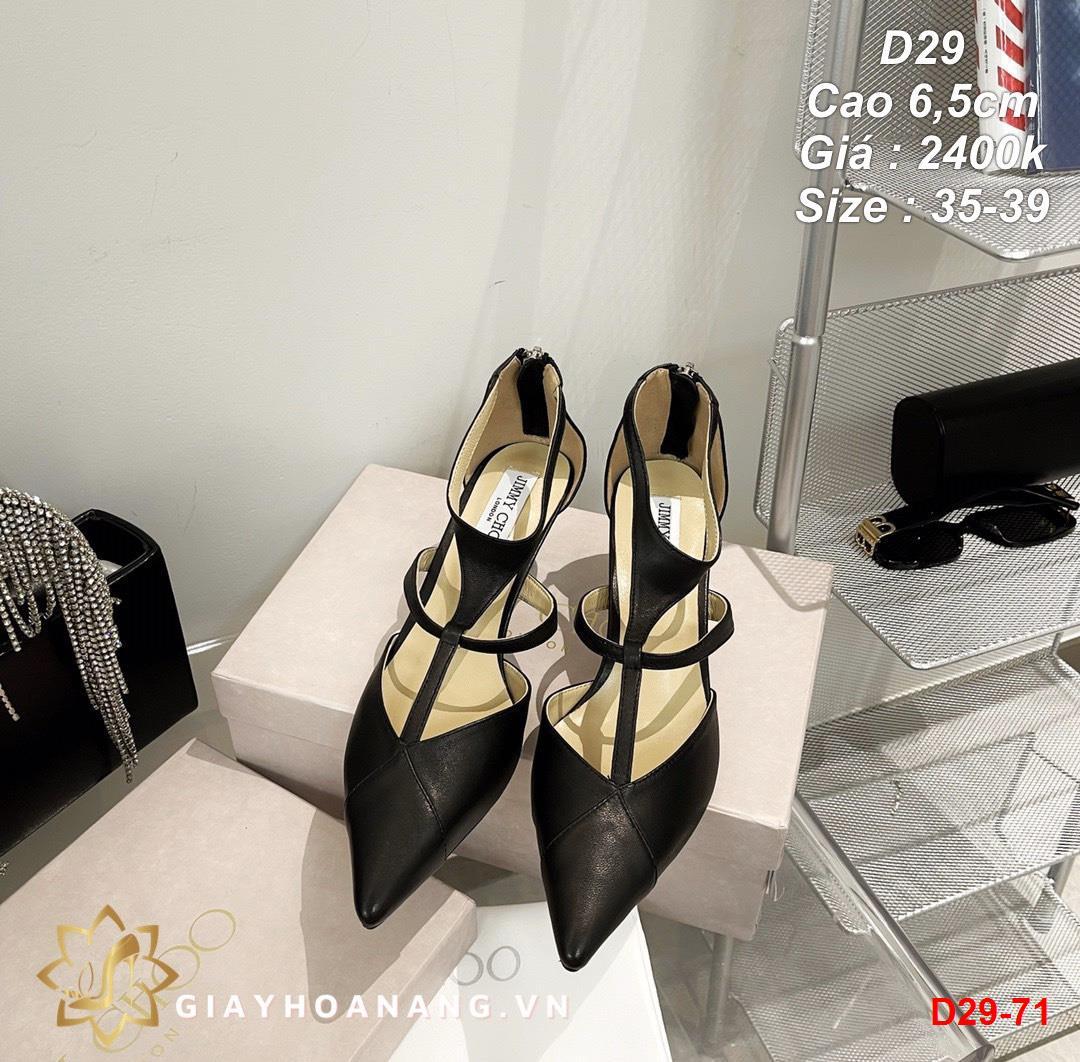 D29-71 Jimmy choo sandal cao 6,5cm siêu cấp