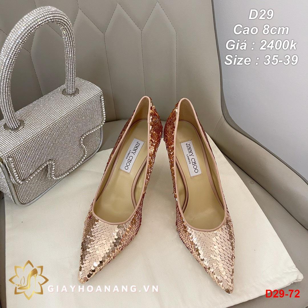 D29-72 Jimmy choo giày cao 8cm siêu cấp